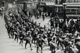 First World War soldiers at New St